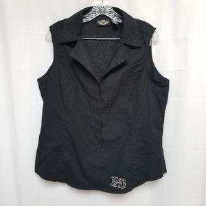 Harley Davidson Black Vest Sleeveless XL